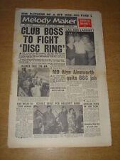 MELODY MAKER 1960 JULY 2 FLAMINGO CLUB TOMMY STEELE CHARLIE BARNET JAZZ CLUB +