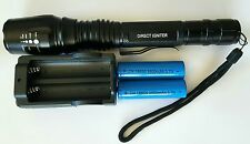 BRIGHT RECHARGABLE MILITARY GRADE LED FLASHLIGHT. 1000 LUMEN 2 3500 BATTERIES