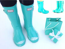 Rare & Only Pair on eBay Hunter Tiffany Blue Mint Rubber Rain Boots Low US6 EU37