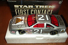 MICHAEL WALTRIP #21 STAR TREK 1ST CONTACT SIGNED 96 FORD T-BIRD ACTION 1:24 (18)