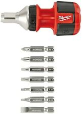 Milwaukee 8-in-1 Mini Compact Ratchet Multi-Bit Driver Screwdriver Hex Hand tool