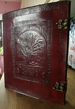 Extra Large hand made Tree of Life leather journal book of shadows Wiccan Pagan