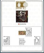 AUSTRALIA - 1992 - Esposizione filatelica colombiana a Chicago - Cartolina ricor