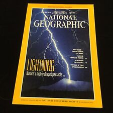 NATIONAL GEOGRAPHIC MAGAZINE JULY 1993 LIGHTNING,ZOOS,SIBERIAN TIGERS,N CALIF