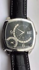 NEW MENS GUESS COLLECTION GC28000 Swiss Made GC DUAL TIME Gents Date Watch