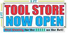 TOOL STORE NOW OPEN Banner Sign NEW Larger Size Best Quality for the $$$