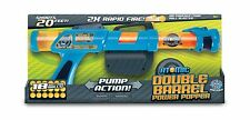 Atomic Double Barrel Power Popper with 18 Soft Foam Balls