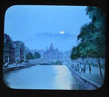 Dutch Colour Glass Magic Lantern Slide Amsterdam St Antonieswaag Netherlands