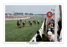 Sea-bird ii pat Glennon 1965 epsom derby horse racing photo A4 sea bird