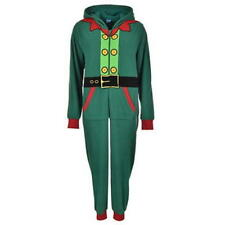 onesie size 10 ladies womens mrs elf pyjamas pj's santa christmas all in one new