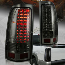 For 1999-2006 GMC Sierra 1500 2500 3500 LED Chrome Housing Smoke Lens Tail Light