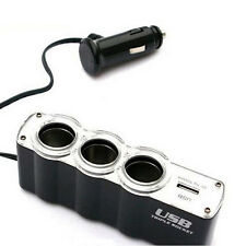 New Universal Auto Accessories Car Cigarette Lighter Socket Spliter + USB Port