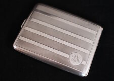 Antique Elgin Art Deco Sterling Silver Cigarette Case