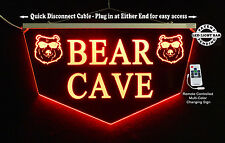 Personalized Custom LED Sign Man Cave Sign, Pub Sign, Bar Sign-Gift, Bear Cave