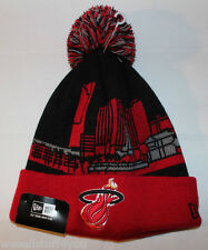 New Era Miami Heat City Scape NBA Red White Black Beenie Cap Hat New