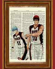 Kuroko & Kagame Dictionary Art Print Picture Poster no Basuke Basket Anime Manga
