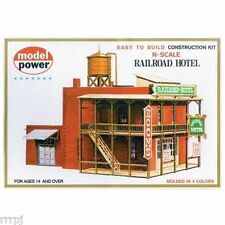 "MODEL POWER RAILROAD HOTEL "" N "" SCALE BUILDING KIT # 1512 RAILROAD HOTEL"