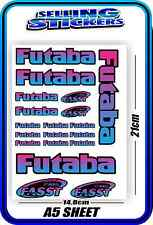 FUTABA SERVO RADIO RX TX 2.4G FLIGHT REMOTE CONTROL STICKERS FASST BLUE PINK B
