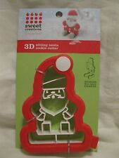 Good Cook Sweet Creations 3-D Sitting Santa Cookie Cutter New 3D