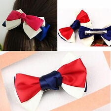 2016 US new style Navy style Cute Bow Hair clip Hair gift for lady girl women