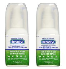 2 Pack - Benadryl Itch Relief Cooling Spray Extra Strength 2oz Each