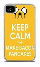 Keep Calm and Make Bacon Pancakes For Apple iPhone Case for iPhone 4 / 4S New