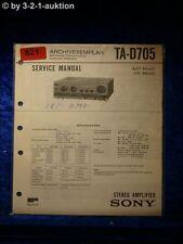 Sony Service Manual TA D705 Amplifier  (#0821)