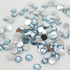 New Diy 800pcs 4mm Blue Facets Resin Rhinestone Gems Flat Back Crystal beads C