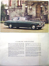 Jaguar Mark X 4.2 Litre Saloon 1964-66 Original UK single sheet Sales Brochure