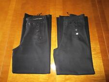 TWO Pairs of Vintage US NAVY Sailor Uniform 13 Button Wool PANTS Cracker Jack
