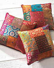 Indian Brocade Patchwork Cushion Covers Assorted Colours 40 cm x 40 cm