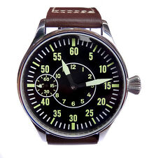 Parnis AVIATOR 44mm PILOT's Hand Wind 6497 Swan Neck Army Military Steel Watch