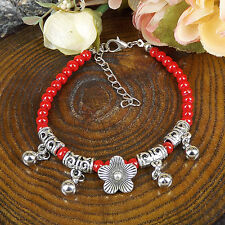 HOT Free shipping New Tibet silver multicolor jade turquoise bead bracelet S85B