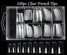 100pc Colour French Nail Tips fingernails Fake False Acrylic UV Gel manicure