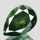 WOW OUTSTANDING !! 0.71tcw Natural Fancy Forest Green Pear Loose Diamond