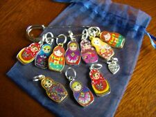 10 x Matryoshka Doll Knitting Stitch Markers + Free 'Abigail' Knitting Pattern