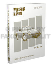 Alfa Romeo Spider Repair Shop Manual 1991 1992 1993 1994 Veloce Service Book CE
