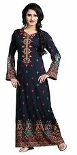 TrendyFashionMall Women's Printed Kaftan Abaya Maxi Dress Size- 4XL(50)