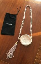 Auth CHANEL Quilted Leather CC Logo Suede Fringe Shoulder Bag Purse Pink Vtg