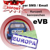 Kurzzeitkennzeichen Versicherung 5 Tage Pkw Ausland Kurzkennzeichen grüne Karte