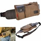 Men Canvas Waist Bag Shoulder Hiking Fanny Travel Belt Purse Hip Pack Bag Wallet
