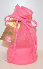 VICTORIA'S SECRET PINK MESH DRAWSTRING BEAUTY COSMETIC BAG TRAVEL SHOWER POUCH