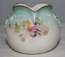 Antique Doulton Burslem - Small Vase - Green Blush & Floral - 1891 - Signed H.B