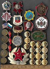 Rare Old CCCP Soviet Army Russian Badge Civil Pin COLD WAR Coin Collection Lot