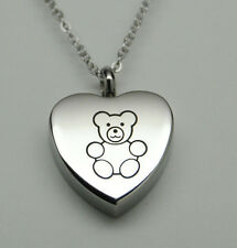 CHILDREN'S CREMATION JEWELRY TEDDY BEAR URN NECKLACE BABY URN MEMORIAL KEEPSAKE