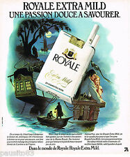 PUBLICITE ADVERTISING 055 1976  ROYALE  cigarettes  MARINE ROYALE