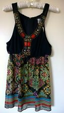 Twenty One Sleeveless Top with Beads and Studs Made in USA Small $24.80