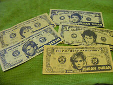 DURAN DURAN Old Set of 5  Fantasy Banknotes,1980s.