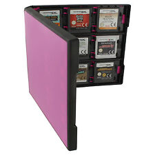 Assecure 18 game card case for Nintendo 3DS & DS holder storage box - pink black