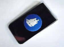 "Wedgwood Cameo- Blue & White Jasperware ""Ship"" Men's MONEY CLIP"